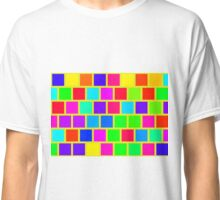 Colorful squares pattern Classic T-Shirt