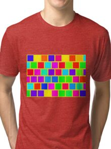 Colorful squares pattern Tri-blend T-Shirt