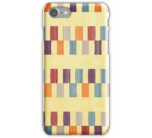 Retro rectangles pattern iPhone Case/Skin