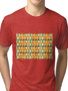 Shredded abstract background Tri-blend T-Shirt