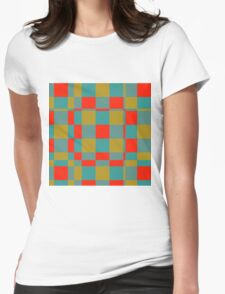 Retro squares Womens Fitted T-Shirt