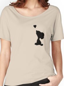 snoopy lovely  in black  Women's Relaxed Fit T-Shirt