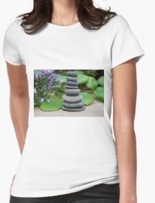 Stone stack - Zen image Womens Fitted T-Shirt