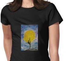 The Grace of the Moon Womens Fitted T-Shirt