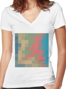 Glass abstract design Women's Fitted V-Neck T-Shirt