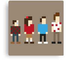 Seinfeld sitcom characters in Pixelstyle Canvas Print