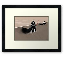 The Jedi hunt Framed Print