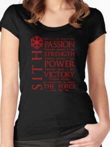 The Sith Code Women's Fitted Scoop T-Shirt