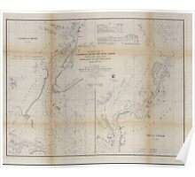 Civil War Maps 1470 Preliminary chart of Calibogue Sound and Skull Creek forming inside passage from Tybee Roads to Port Royal Sound South Carolina Poster