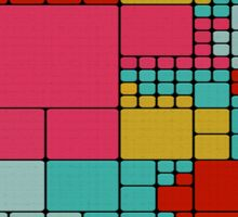 Colorful squares abstract design Sticker