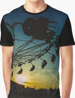 Amusement park sunset Graphic T-Shirt