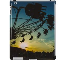 Amusement park sunset iPad Case/Skin