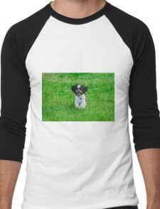 Running dog Men's Baseball ¾ T-Shirt