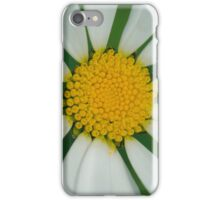White flower macro iPhone Case/Skin