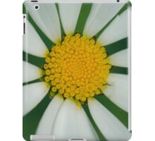 White flower macro iPad Case/Skin