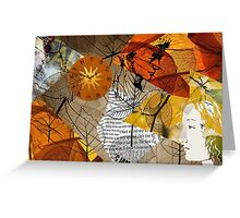 Automn leaves Greeting Card