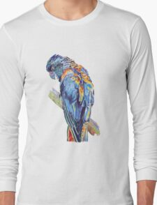 Psychedelic Parrot Australian Cockatoo Long Sleeve T-Shirt