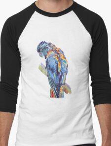 Psychedelic Parrot Australian Cockatoo Men's Baseball ¾ T-Shirt