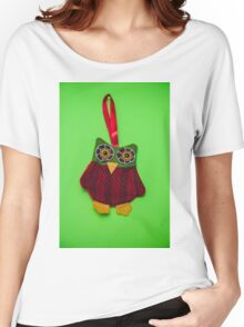 Cute owl decoration Women's Relaxed Fit T-Shirt