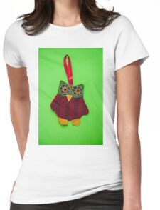 Cute owl decoration Womens Fitted T-Shirt
