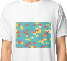 Puzzle pieces abstract design Classic T-Shirt
