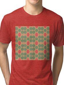 Honeycomb abstract pattern Tri-blend T-Shirt