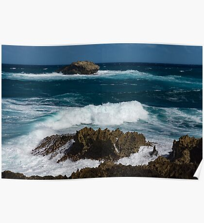 Boiling the Ocean at Laie Point State Wayside, Oahu's North Shore in Hawaii Poster
