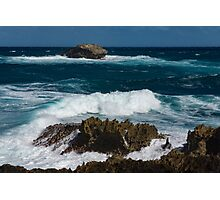 Boiling the Ocean at Laie Point State Wayside, Oahu's North Shore in Hawaii Photographic Print