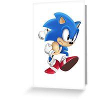 Sonic Runner Greeting Card