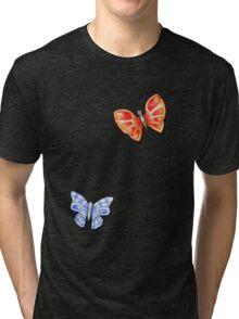 Butterflies Orange & Blue Tri-blend T-Shirt
