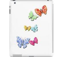 6 Butterflies Orange & Blue iPad Case/Skin