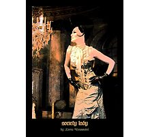 society lady - art nouveau Photographic Print
