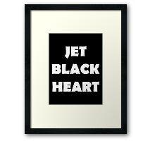 5SOS Jet Black Heart Framed Print