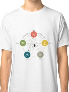 Five Elements / Phases Poster (Wu Xing) Classic T-Shirt