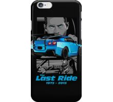 Paul walker Last Ride iPhone Case/Skin