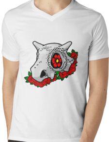 day of the dead cubone Mens V-Neck T-Shirt