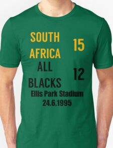 South Africa 15-12 All Blacks - 1995 rugby world cup final T-Shirt