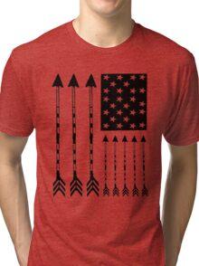 USA Arrow Flag Tri-blend T-Shirt