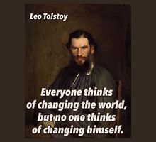 Leo Tolstoy Quote 2 Unisex T-Shirt