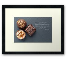 Life is like a box of chocolate Forest Gump Quote Framed Print