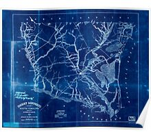 Civil War Maps 0503 Horry District South Carolina Inverted Poster
