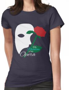The Phantom and Rose Womens Fitted T-Shirt