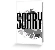 Sorry - Justin Bieber Greeting Card