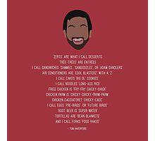 Tom Haverford-isms Photographic Print