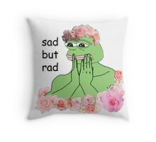 pastel pepe Throw Pillow