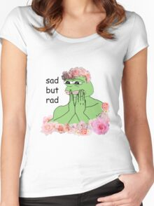 pastel pepe Women's Fitted Scoop T-Shirt