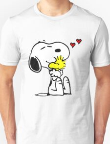 Snoopy and Woodstock Hug Unisex T-Shirt