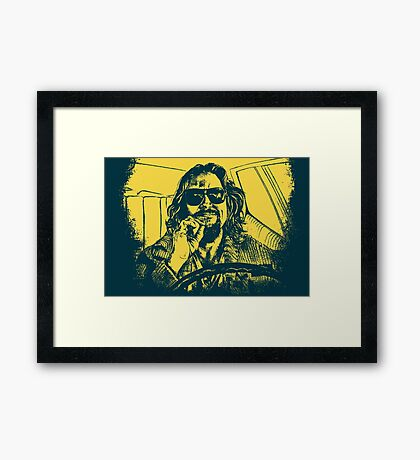 Big Lebowski Yellow 1 Framed Print