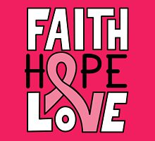 Faith Hope Love - Breast Cancer Awareness Womens Fitted T-Shirt