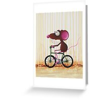 The Green Bike Greeting Card